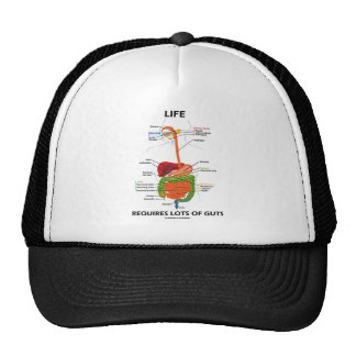 Life Requires Lots Of Guts Digestive System Mesh Hat