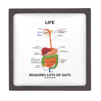 Life Requires Lots Of Guts (Digestive System) Premium Keepsake Box