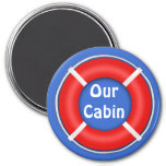 Life Ring Bright Stateroom Door Marker 7.5 Cm Round Magnet