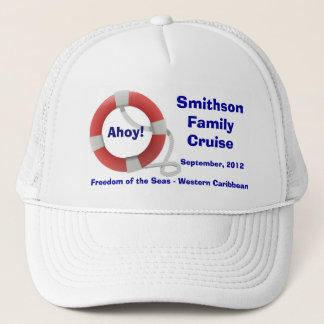 Life Ring Personalized Cruise Trucker Hat