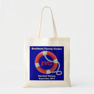 Life Ring Personalized Dk. Tote Bag