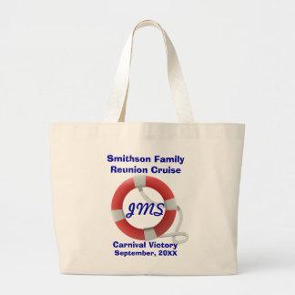 Life Ring Personalized light Jumbo Tote Bag