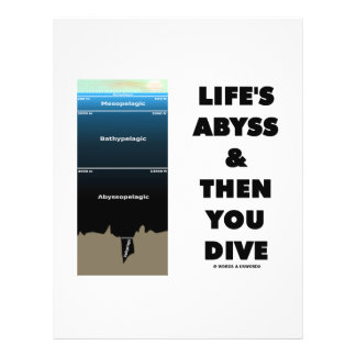Life s Abyss And Then You Dive Pelagic Zone Flyer