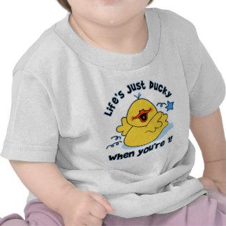 Life s Ducky 1st Birthday Tshirts