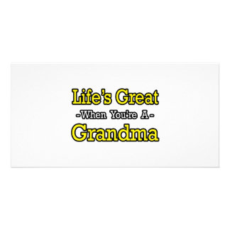 Life s Great When You re a Grandma Personalized Photo Card
