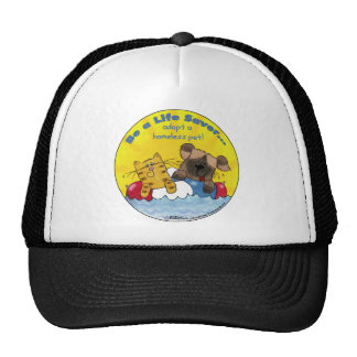 Life Saver Adopt Homeless Pets Trucker Hat