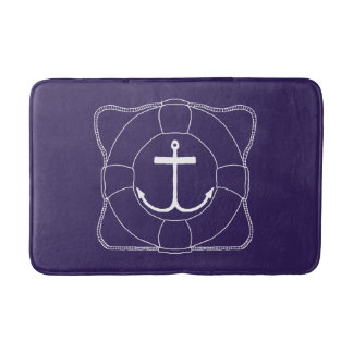 Life Saver/Anchor Bath Mat (Lite Print)