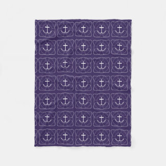 Life Saver/Anchor Fleece Blanket (Lite Print)