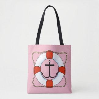 Life Saver & Anchor Tote Bag