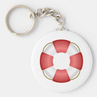 Life Saver Personal Flotation Device Basic Round Button Key Ring
