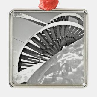 life sculture Silver-Colored square decoration