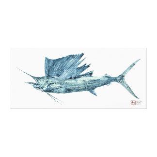 Life Size Atlantic Sailfish Canvas Print