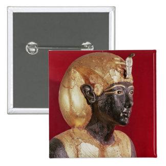 Life size statue of Tutankhamun 15 Cm Square Badge