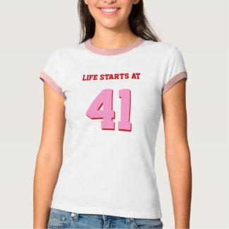 Life Starts At 41 Joke 41st Funny Birthday Shirts