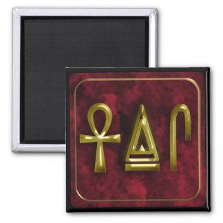 life,strength,health square magnet