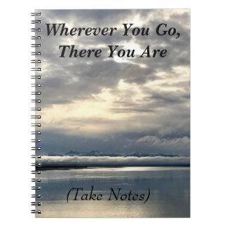 Life: Take Notes Spiral Notebook