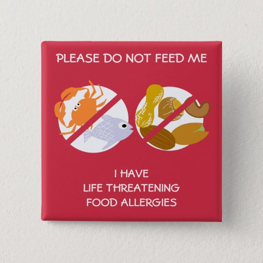 Life Threatening Fish and Nuts Allergy Pin, 15
