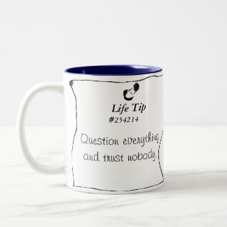 Life Tip #254214 Two-Tone Coffee Mug