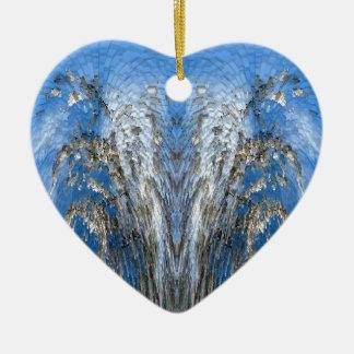 Life Tree Ceramic Heart Decoration