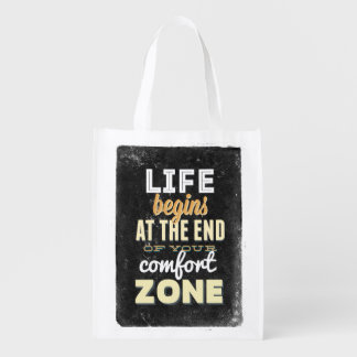 Life Vintage Typography Inspire Reusable Bag Grocery Bags