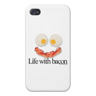 Life with Bacon iPhone 4/4S Covers