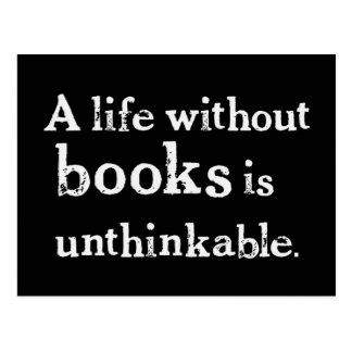 Life Without Books Postcard