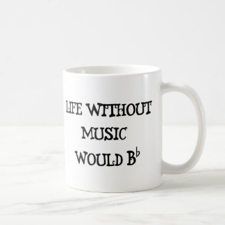 Life Without Music Coffee Mug