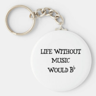 Life Without Music Key Ring