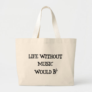 Life Without Music Large Tote Bag