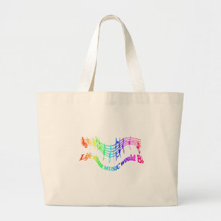 Life without Music would B Flat Humor Quote Large Tote Bag