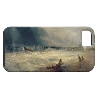 Lifeboat and Manby Apparatus going off to a strand iPhone 5 Case