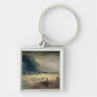 Lifeboat and Manby Apparatus going off to a strand Key Chain