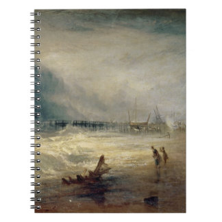 Lifeboat and Manby Apparatus going off to a strand Spiral Note Book