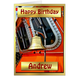 LIFEBOAT BELL ~ Birthday  Card