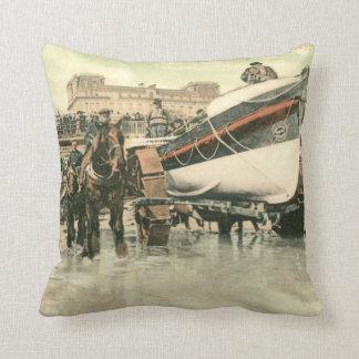 Lifeboat Launching, Bridlington (1900) Cushion