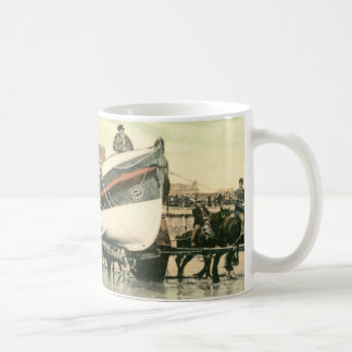 Lifeboat Launching, Bridlington (1900) Mug