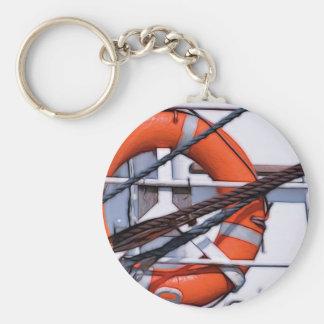 Lifebuoy digital painting transformation basic round button key ring