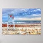 Lifeguard Beach Chair Poster Print Newport