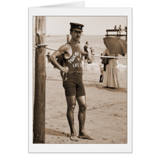 Lifeguard Brighton Beach 1905 Card