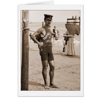 Lifeguard Brighton Beach 1905 Note Card