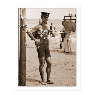 Lifeguard Brighton Beach 1905 Postcard