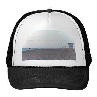 lifeguard shack on beach with walker trucker hats