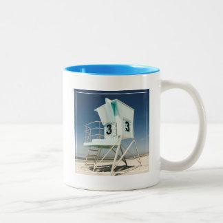 Lifeguard Stand | San Diego, Ca Two-Tone Coffee Mug