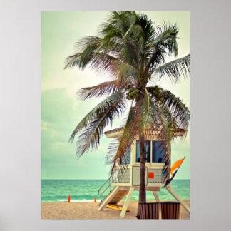 Lifeguard Station |Florida Poster
