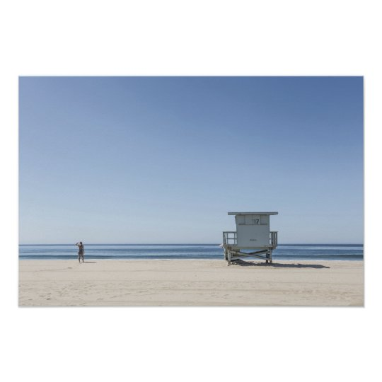 Lifeguard Station on a Beach Poster