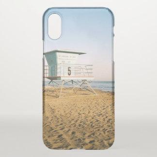 Lifeguard Tower in Santa Cruz iPhone X Case