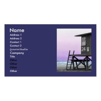 Lifeguard Tower Newport Beach Biz Cards Pack Of Standard Business Cards
