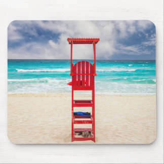 Lifeguard Tower On Beach | Cancun, Mexico Mouse Pad