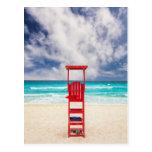 Lifeguard Tower On Beach | Cancun, Mexico Postcard