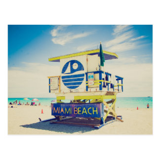 Lifeguard Tower | South Beach, Miami, Fl Postcard